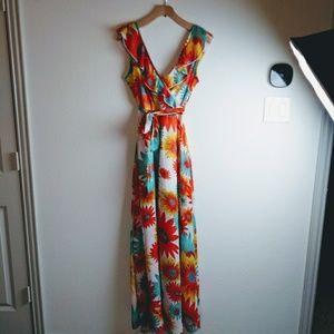 Floral Wrap Agaci Maxi Dress Medium